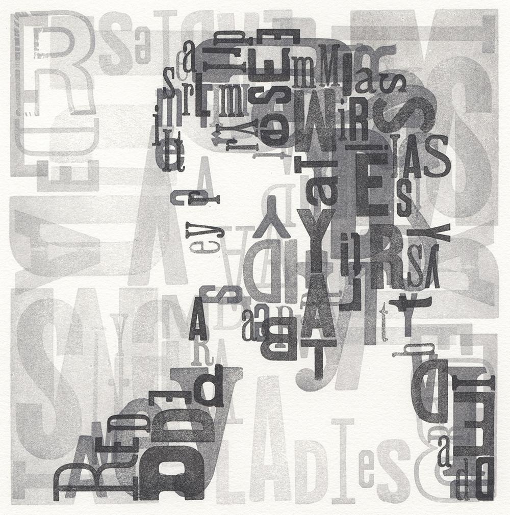 Leslie Nichols , Typeface , Handset Wood Type Letterpress