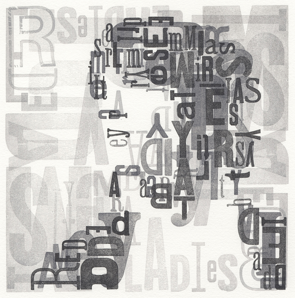 Leslie Nichols, Typeface, Handset Wood Type Letterpress
