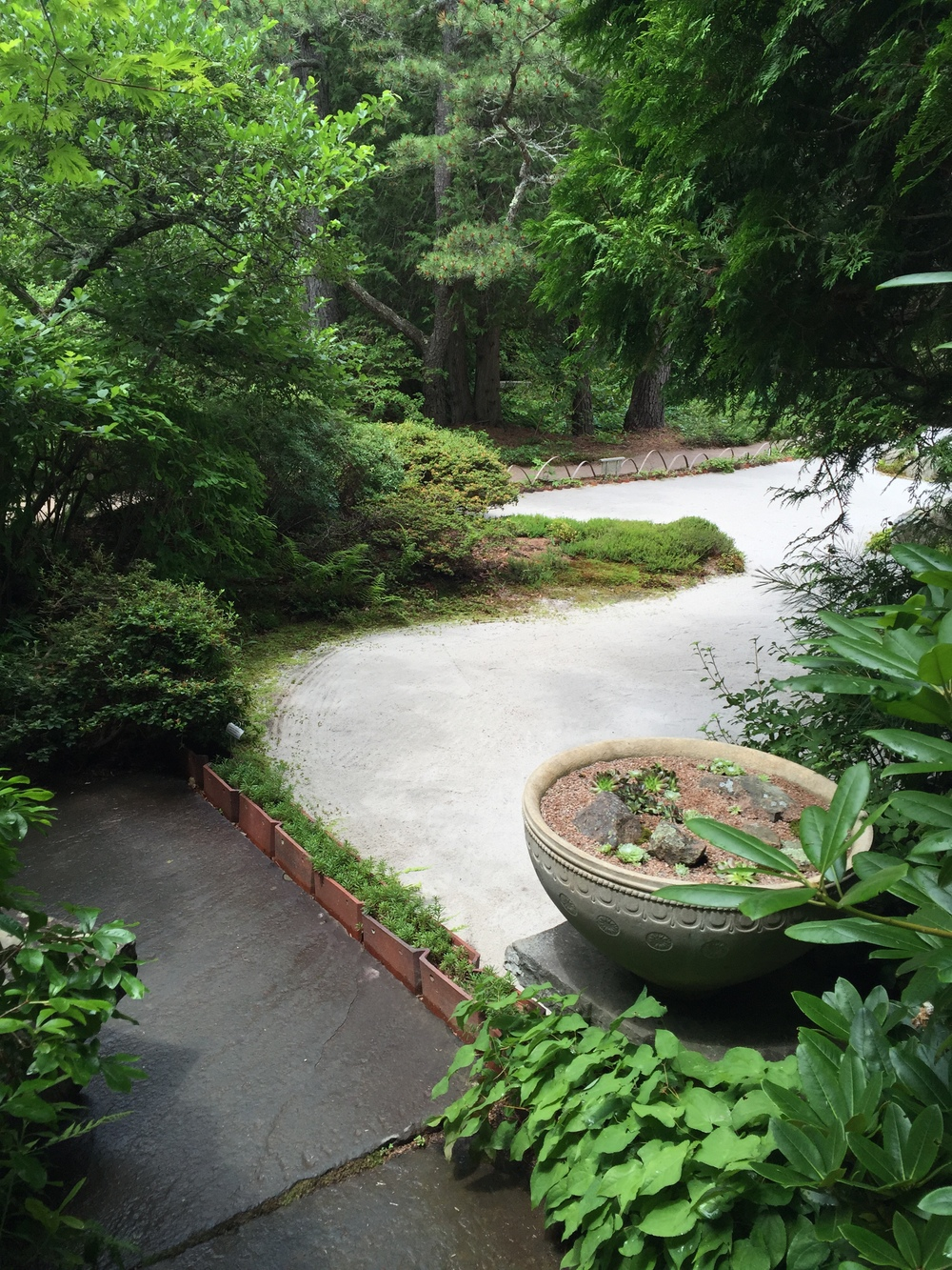 The edge of the stone garden at the Asticou Azalea Garden on MDI.