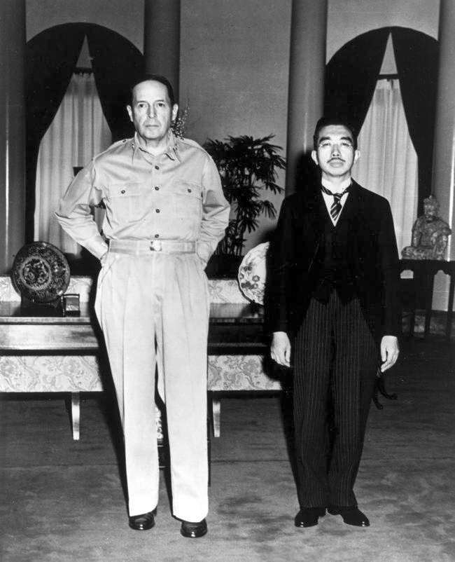 General McArthure and Emperor Showa