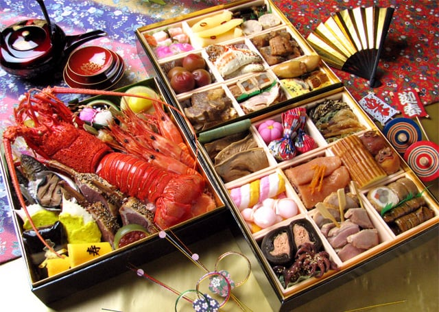 An example of Osechi-ryori, I did not make this.