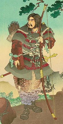Jimmu with his long bow