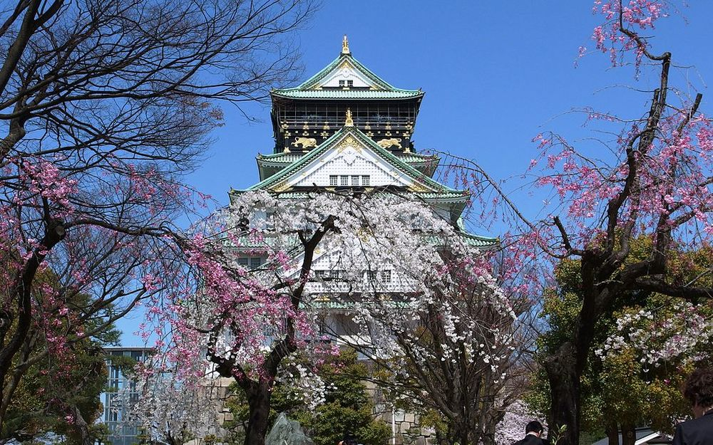Osaka Castle, built with the help of Kongo Gumi in  1583