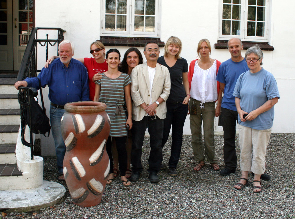 Group photos with Akio and my other residency partners at Guldagergaard in 2009