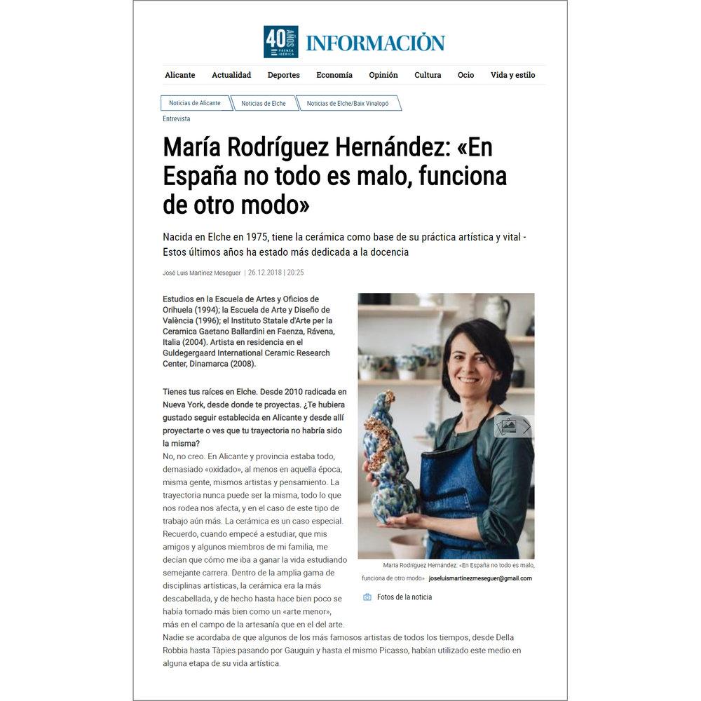 Información Magazine, December 2018