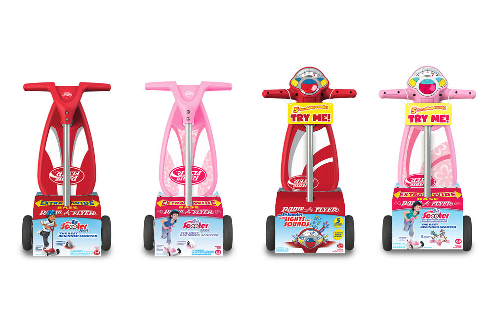 Radio Flyer My 1st Scooter  |  Packaging Structure Design