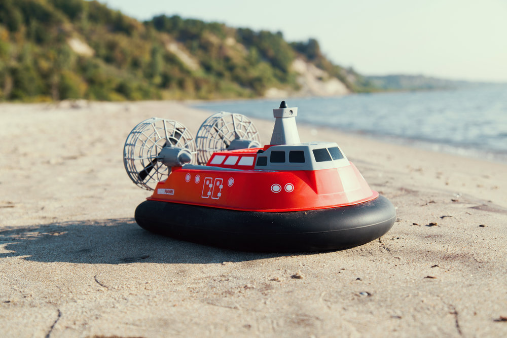 Travel on land or water! - Who has not ever wanted an R/C hovercraft - land to sea and back! Really, it's the perfect blend between a car that can go in water and a boat that can scoot onto shore!