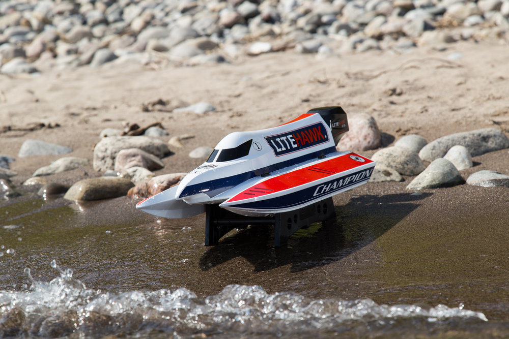 Factory tested and Ready to Run! - Like all LiteHawk products, the CHAMPION is ready for action right out of the box. Simply charge the battery and you're ready to hit the water!