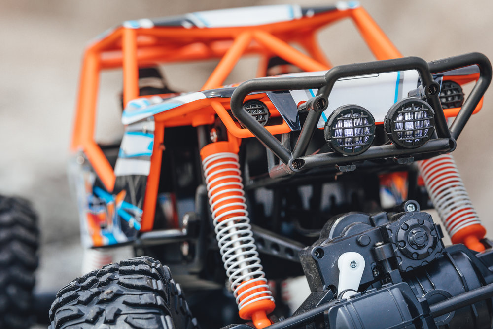 Variable speed adjustment - Learn to drive OVERDRIVE at a safe speed or unleash the full power of two motors - your choice! Perfect for beginners or kids learning to drive an R/C car for the first time.