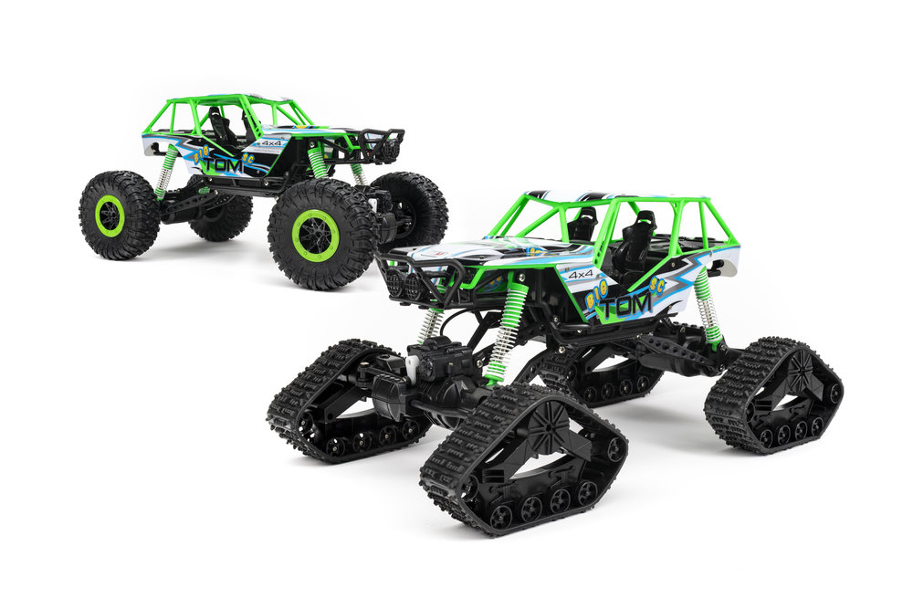 Two Ways to Drive! - Put on the All-Terrain Wheels for some high speed fun over light terrain! Attach the tracks to tackle rough, impassible environments like snow and mud.