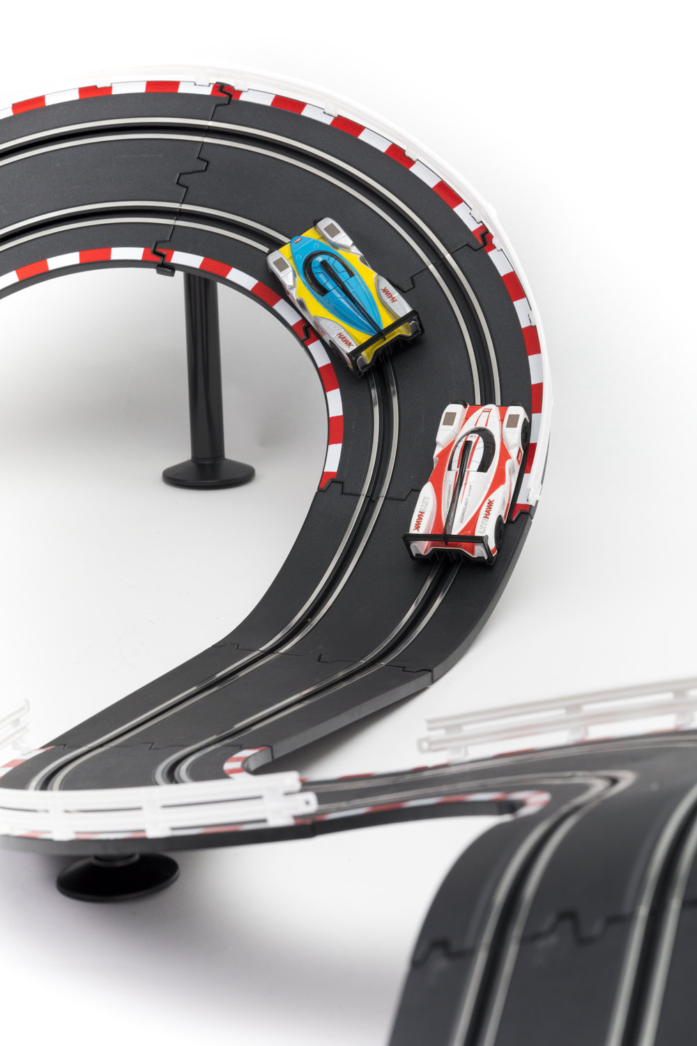 Precision Driving at its Best! - The LMP set set is built for fast overtaking action! Race around the track navigating tight turns and dramatic elevation changes!