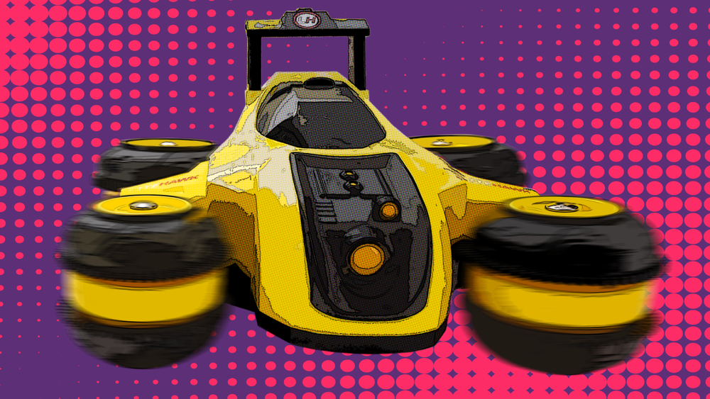 Side Drive Mode - Slide and spin with the wheels turned 90 degrees! With the press of a button Rumbler can transform from normal drive mode to side drive - slide around or spin 360 degrees!