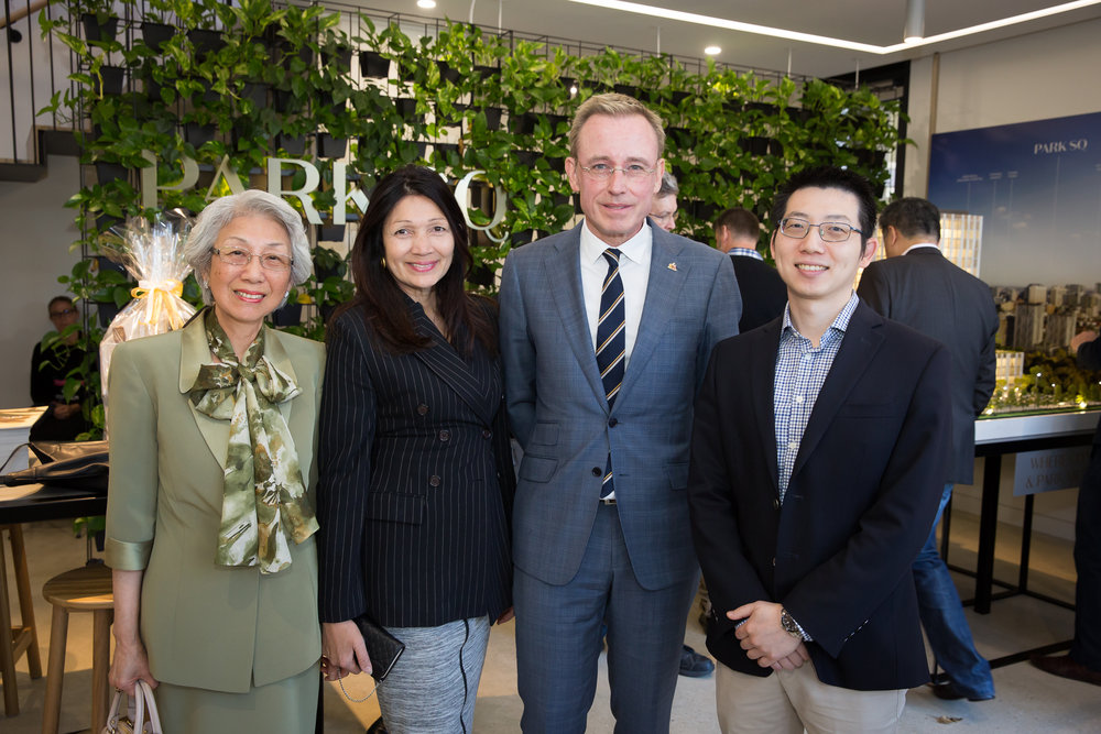L-R:  Mrs Kuo, Lady Mayoress of Adelaide Genevieve Theseira-Haese, Lord Mayor of Adelaide Martin Haese, Mr Kuo.