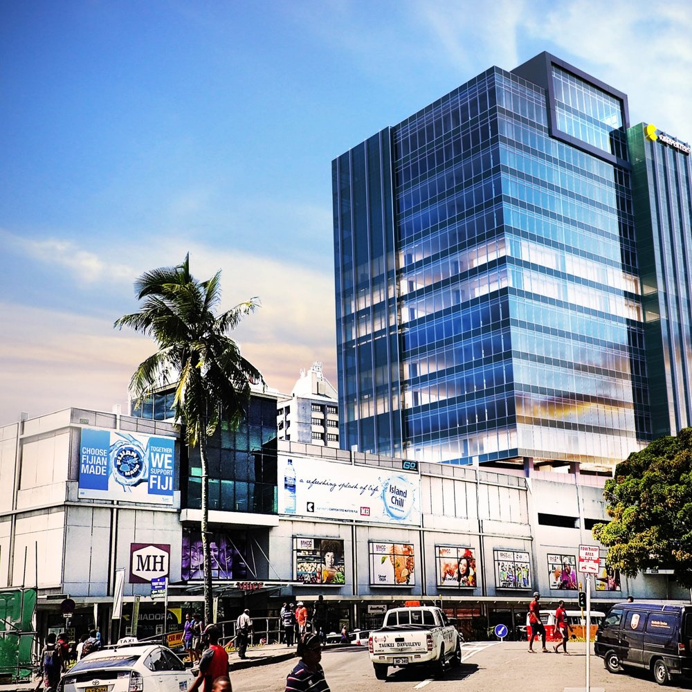 Render of the new Carpenters Tower in Suva, Fiji (courtesy of Sharma Design Group).