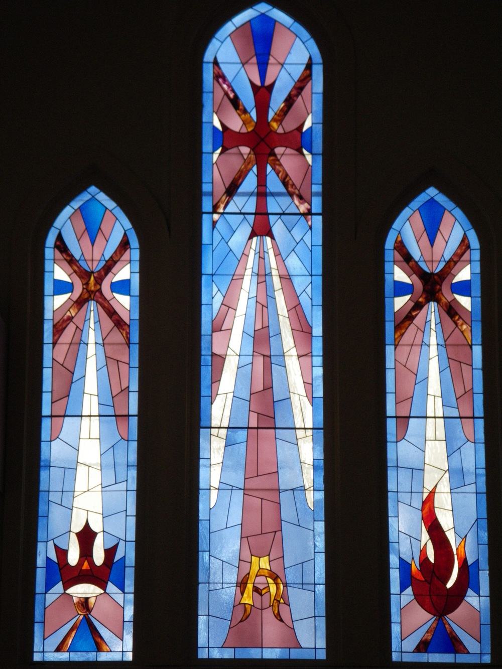 Shadow of the Cross-Trinity Memorial Windows