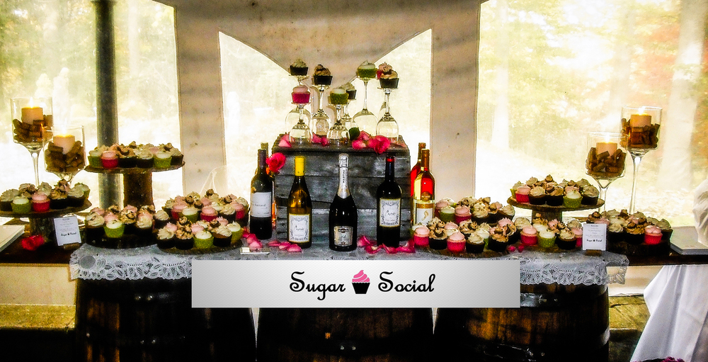 sugar social cupcake display