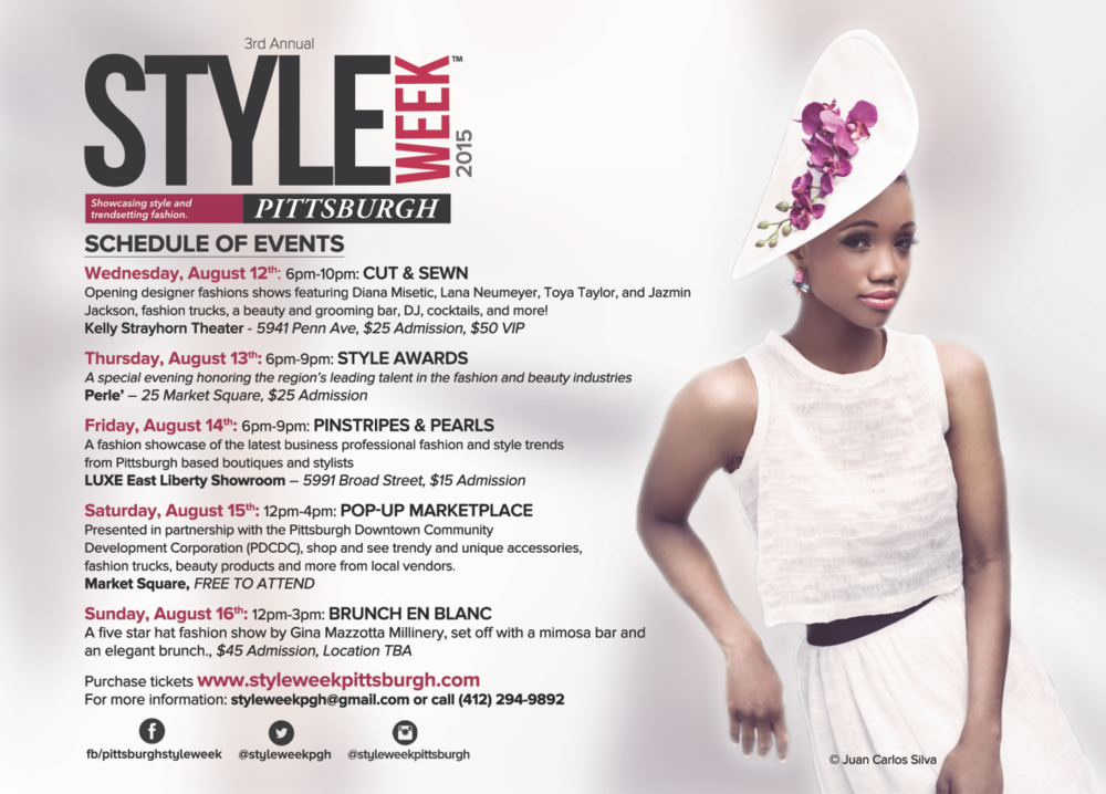 photo by  juan carlos silva  - list of events from  style week pittsburgh website