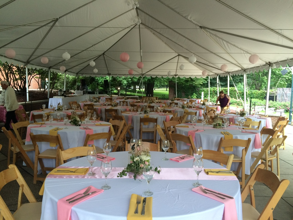 national aviary - beautiful outdoor tented space
