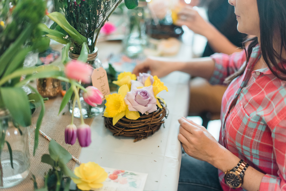 summer floral workshop presented by sapphire and lace event design