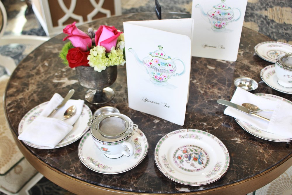 charming place settings for afternoon tea
