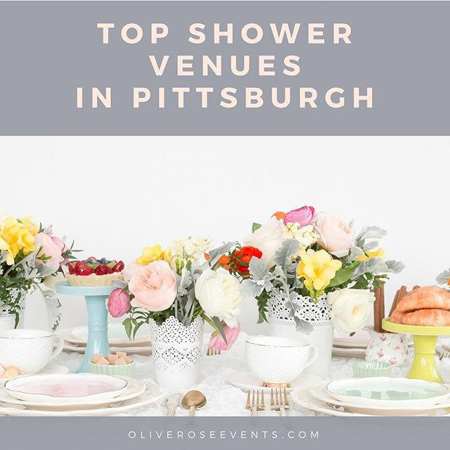 For any of you lovelies planning a bridal or baby shower in #Pittsburgh in the coming months, I compiled a list of the top shower venues you'll want to check out! Post is on the Olive & Rose Events Blog - link in profile! Follow us - @oliveroseevents 💙