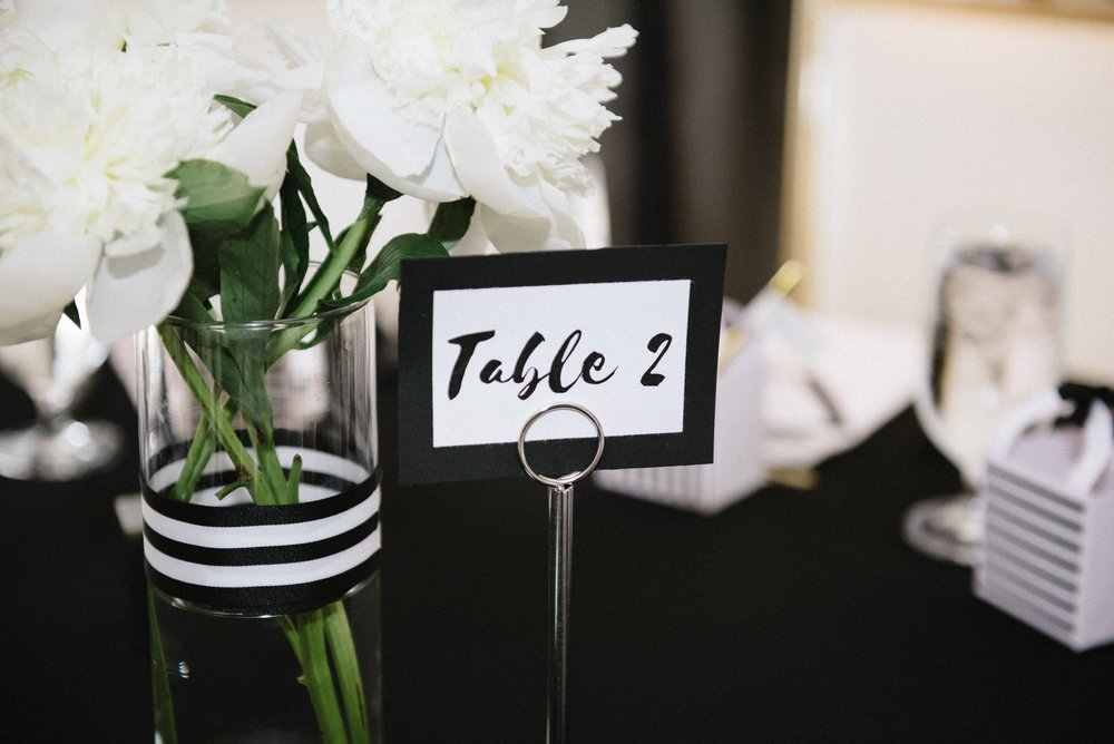 Pittsburgh Blogger Black and White Baby Shower