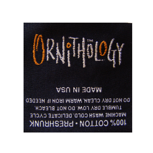 Woven Label Ornithology