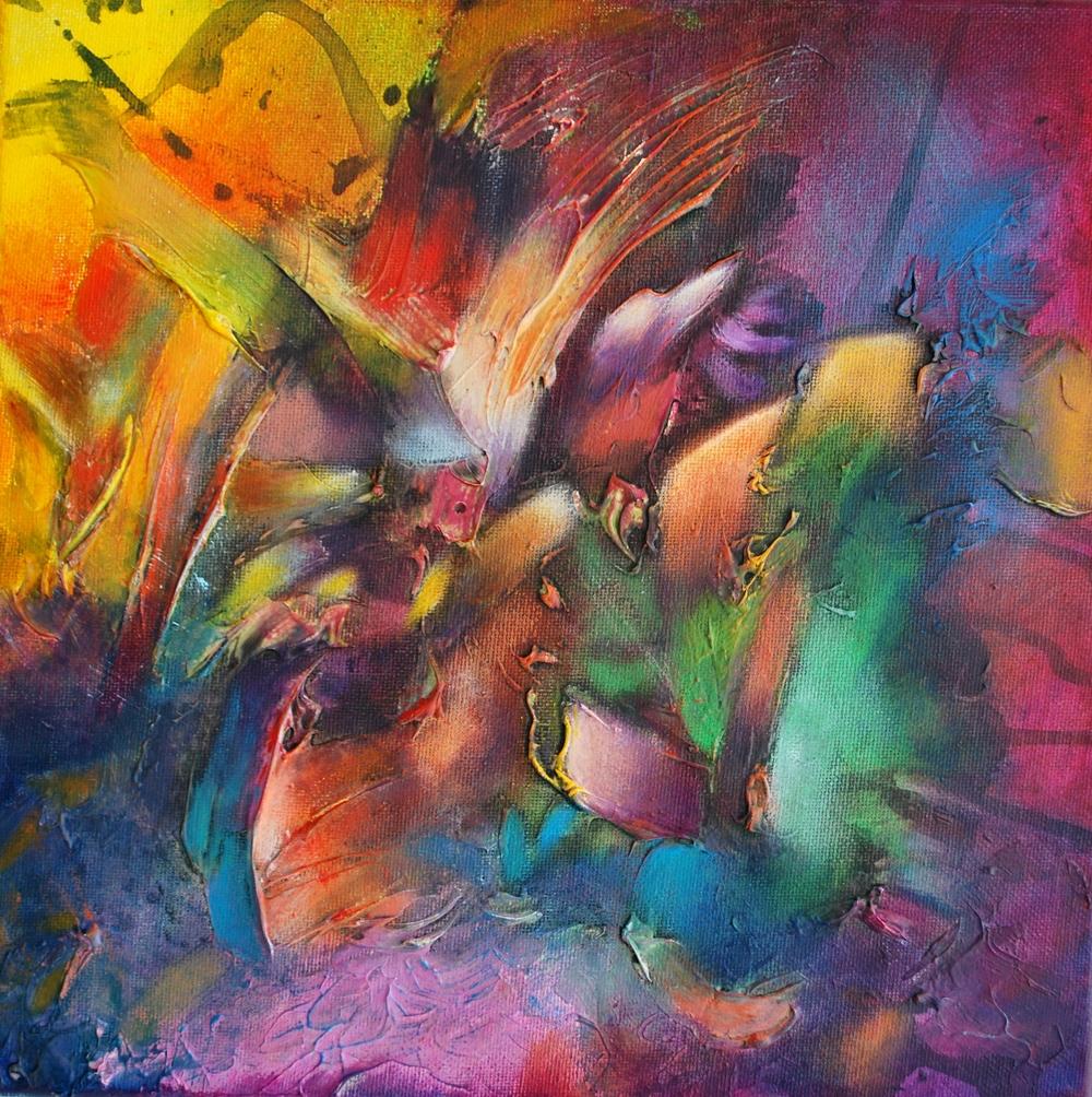 Alegre Polvo Veraniego II. 12 x 12in, 30 x 30 cm  Sold / Vendido