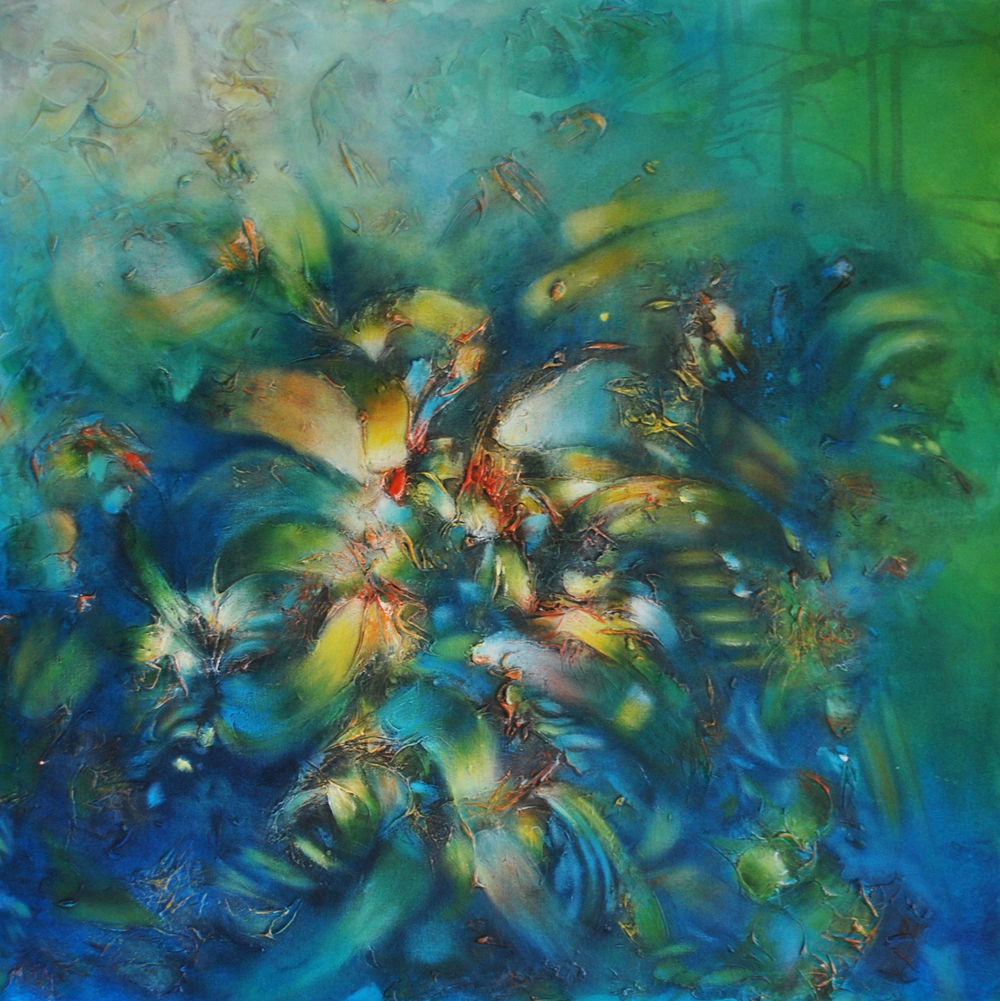 Verde Profundo en el Mar 100 x 100 cm  Sold / Vendido