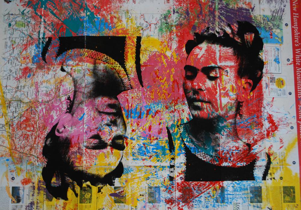 Frida Mapa Grande 1. 23 x 28 in