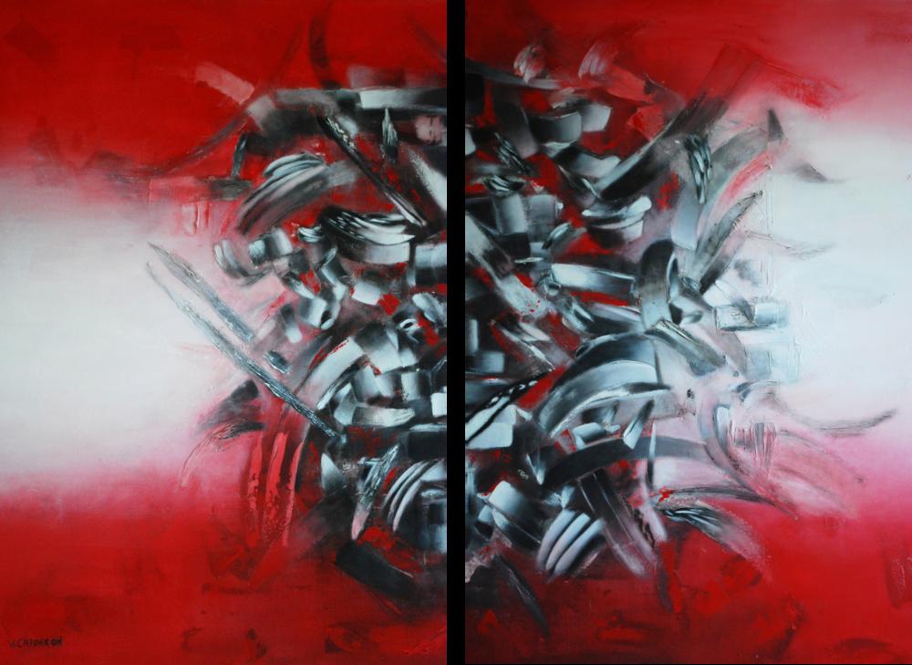 Huellas de Hierro I & II. 60 x 76 cm 47.2 x 35.4 Sold / Vendido