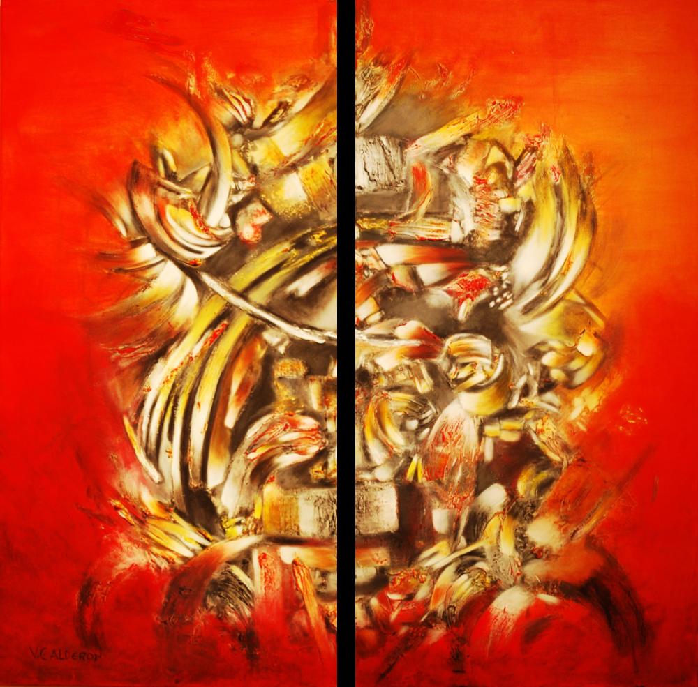 Proximidad de sabios murmullos I & II. 120 x 90 Sold / Vendido