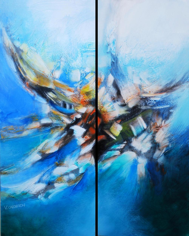 Vuelo de libertad I & II. 90 x 60 cm Sold / Vendido