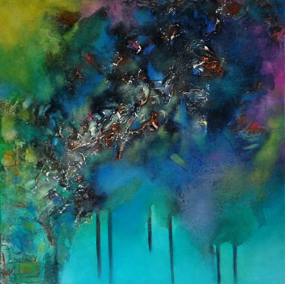 Suspiros de lluvia 50 x 50 cm Sold / Vendido