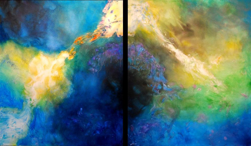Brumas Inmortales I. II 100 x 85 cm Sold / Vendido