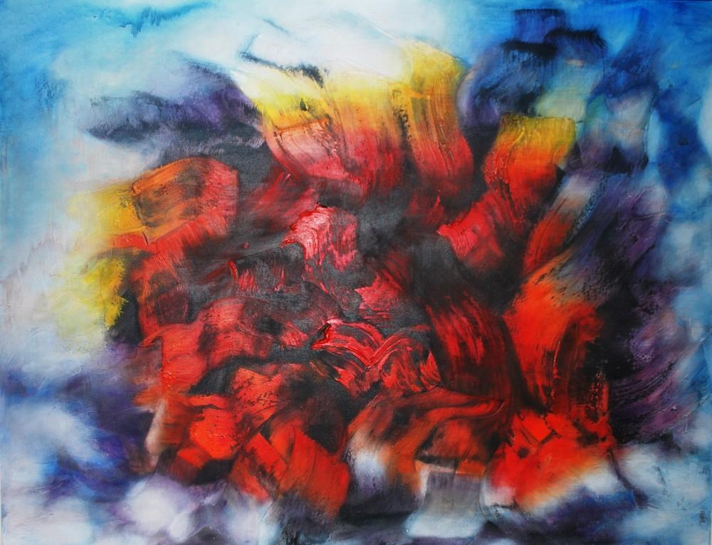 Vehemencia de una pasión 120 x 130 cm