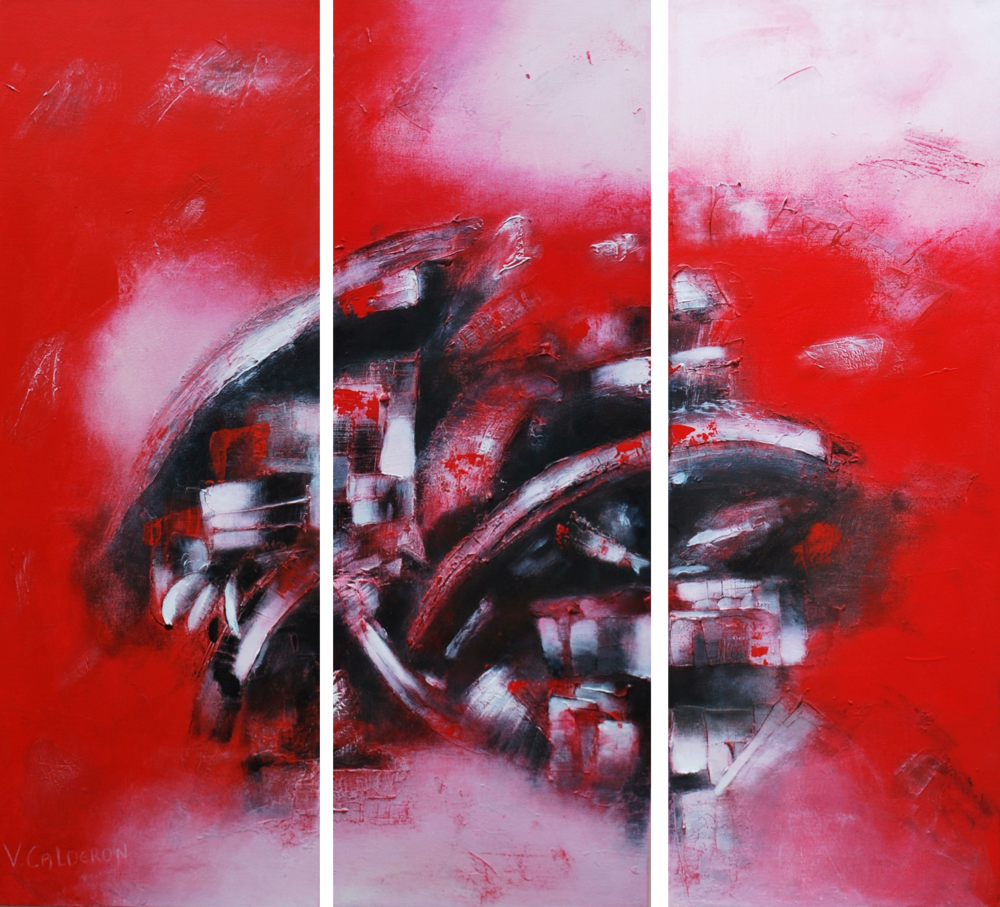 Fuegos I, II, III. 82 x 30 cm Sold / Vendido