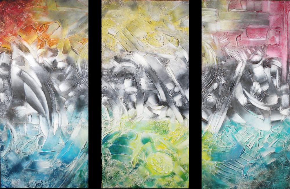 Formaciones I, II, III. 90 x 60 cm ROBADO