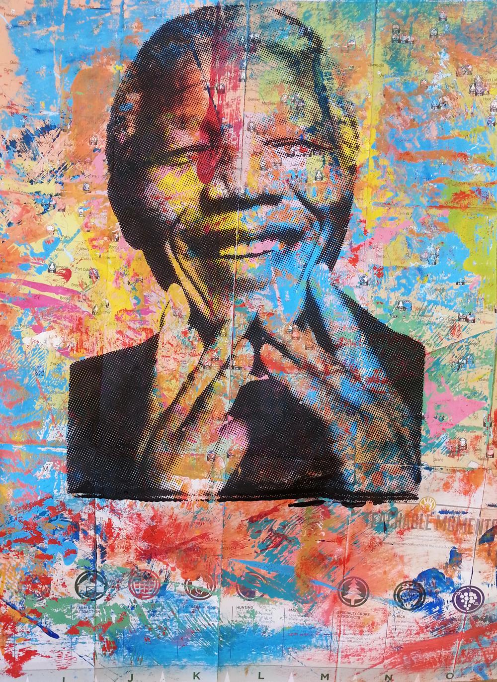 Mandela 6. 24 x 25 in
