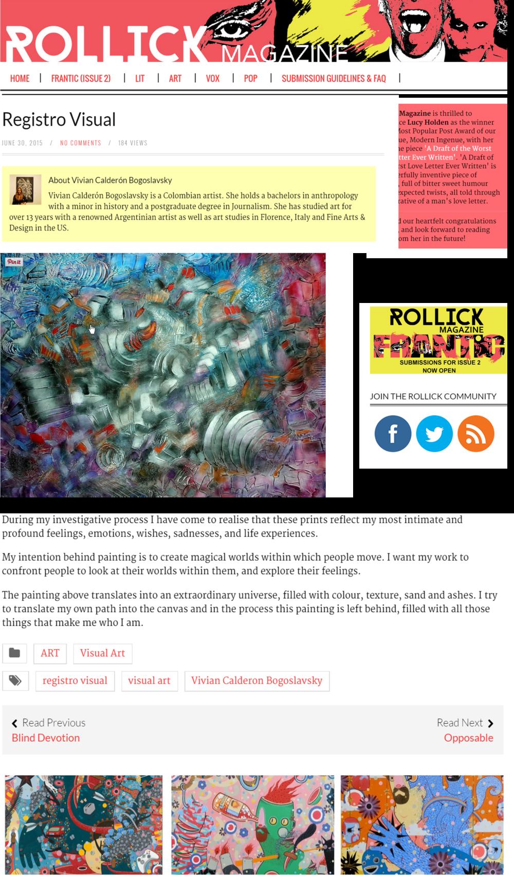Rollick Magazzine 2015