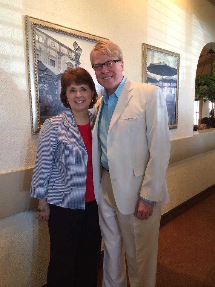 Kevin and long-time composer friend, Glenda Austin.