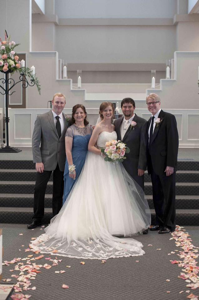 Kevin and family at his daughter's wedding. June, 2014.