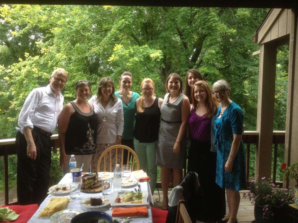 Kevin, on his Birthday in Michigan at Dr. Helen Marlais' house. July, 2014.