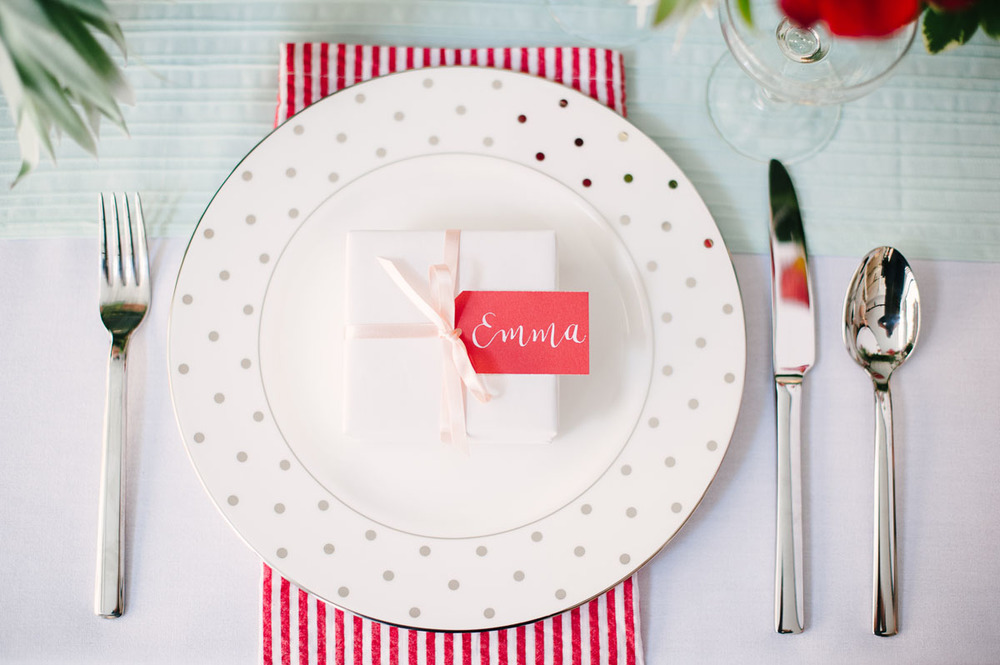 Style Me Pretty - Red, Mint, And Blush Bridal Shower Styled Shoot