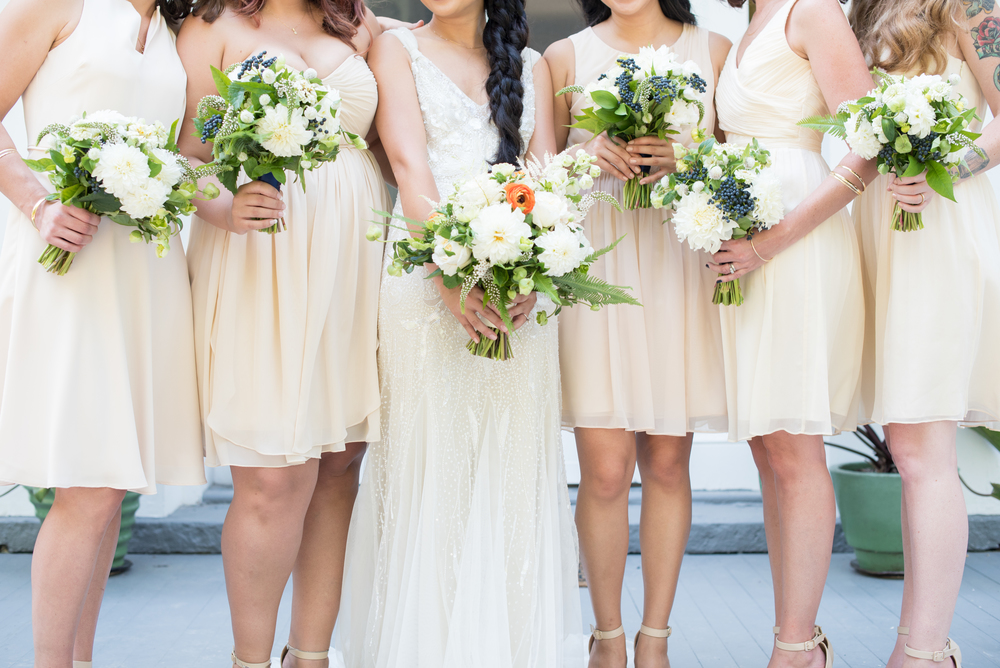 Marisa and doug's orange, navy and white hudson valley wedding at southwood estate