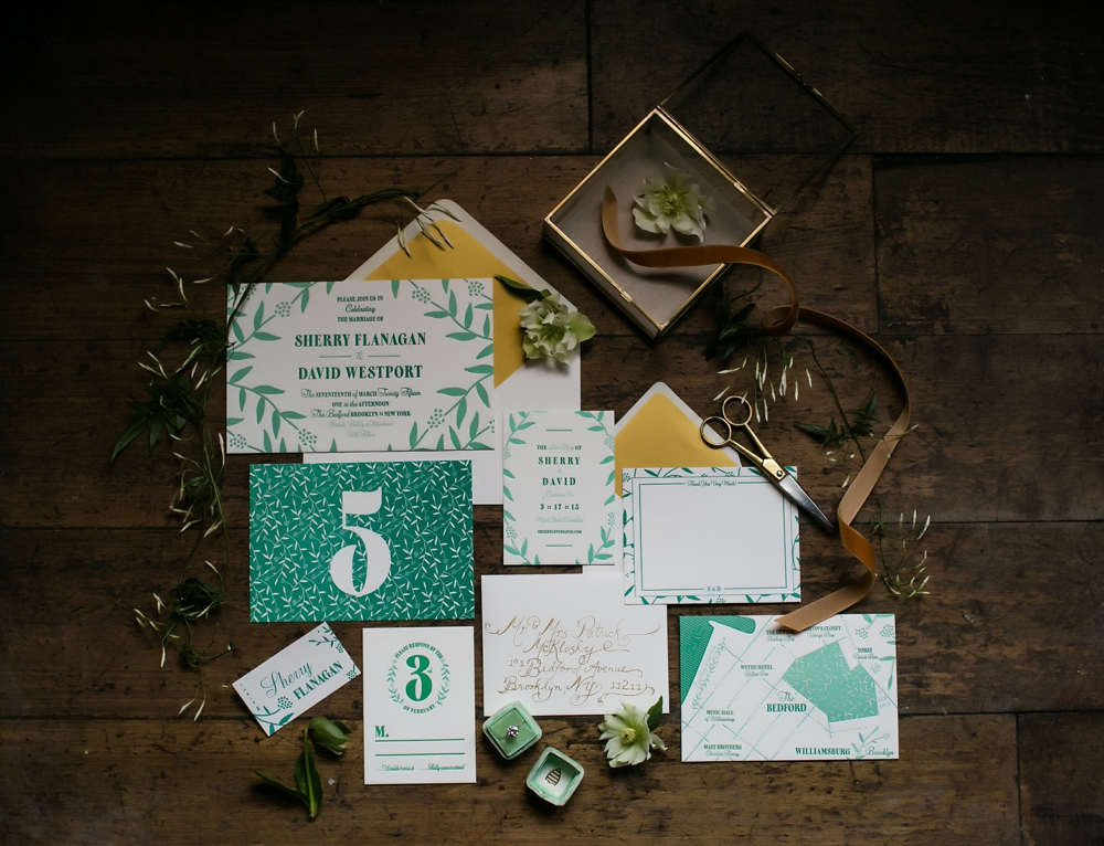 the perfect palette - ST. PATRICK'S DAY WEDDING INSPIRATION
