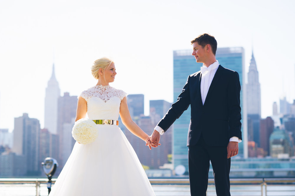 wedding wire - Elegant Manhattan Rooftop Wedding of Katharina & Ralf