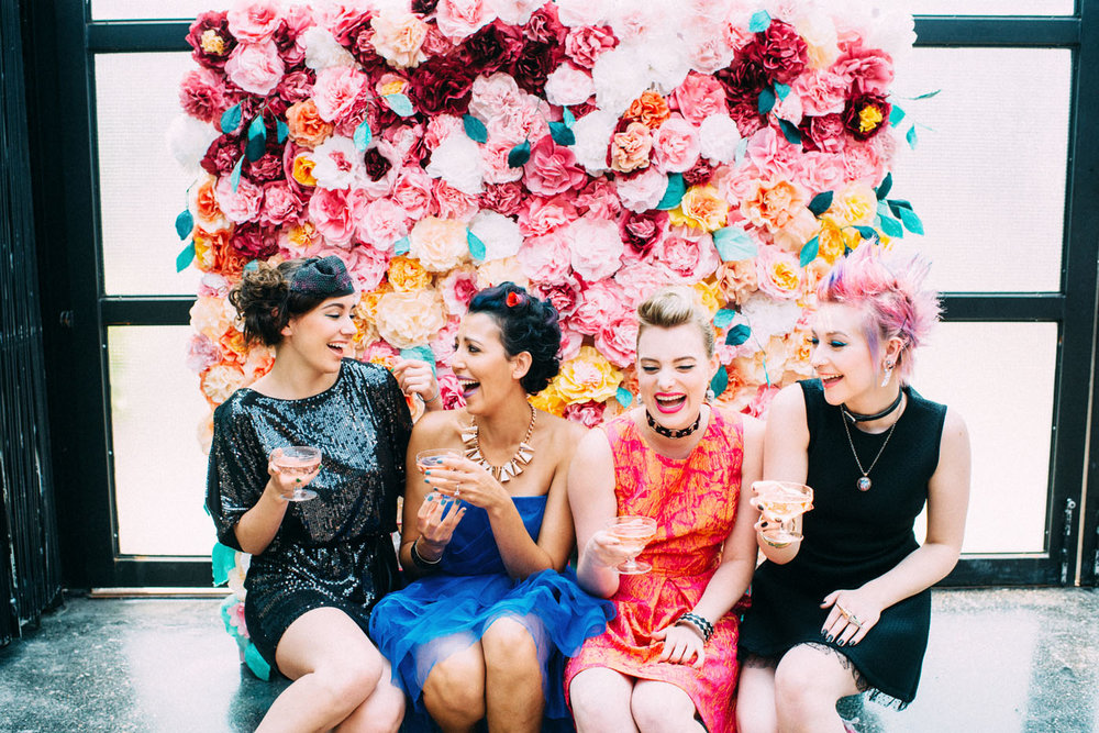 Punk Rock Tea Party Bridal Shower Styled Shoot