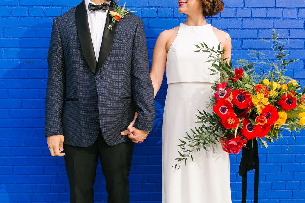 Pop Art-Inspired Styled Wedding Shoot