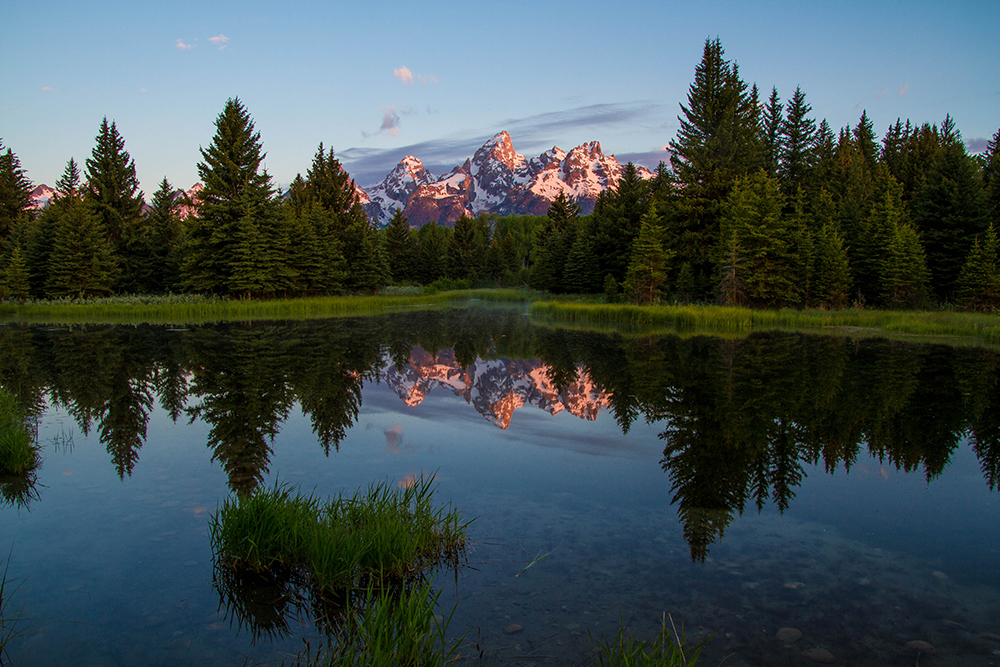 Grand Tetons from Schwabacher's Landing